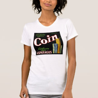Coin California Asparagus Label T Shirt