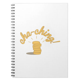 Coin Cha-ching! Spiral Note Books