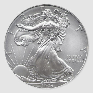Coin Classic Round Sticker