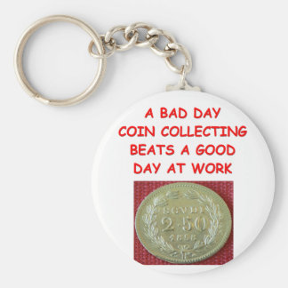 coin collecting keychain