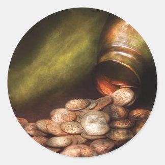 Coin Collecting Round Sticker