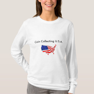 Coin Collecting U.S.A. Women's Basic Tee. T-Shirt