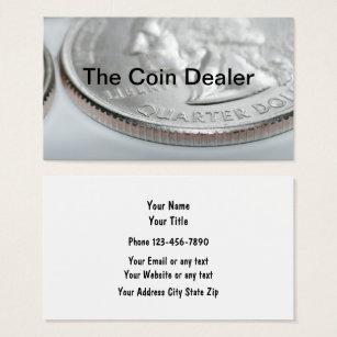 Coin dealer business cards templates zazzle coin collector and dealer business card colourmoves Images