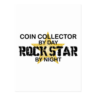 Coin Collector Rock Star by Night Postcard