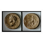 Coin depicting Nero Poster