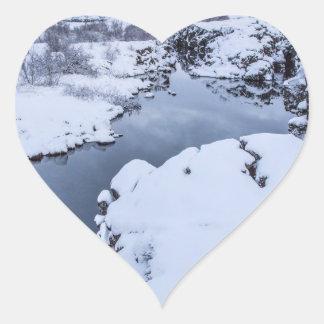 Coin Fissure in Iceland Heart Sticker