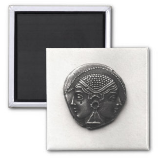Coin from Lampsacus with a Janiform head Magnet