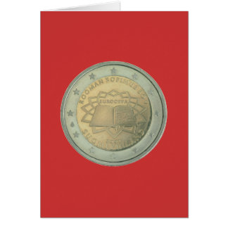 coin greeting card