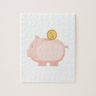 Coin in Piggy Jigsaw Puzzle