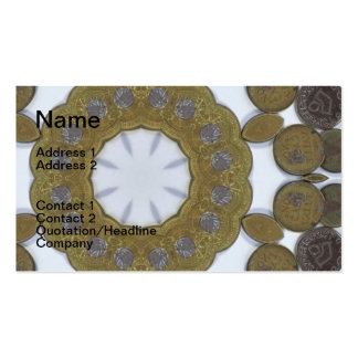Coin Mandala Double-Sided Standard Business Cards (Pack Of 100)