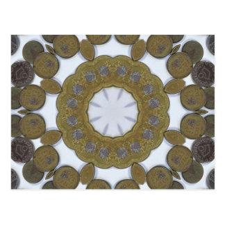 Coin Mandala Postcard
