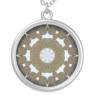 Coin Mandala Round Pendant Necklace