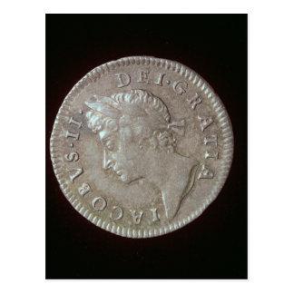 Coin of James II Postcard