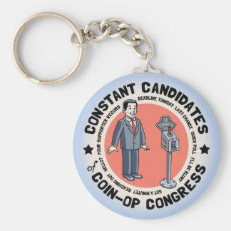 Coin-Op Congress Basic Round Button Keychain