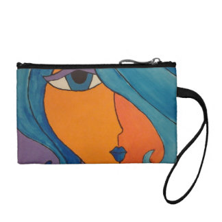 Coin Purse Modern Abstract Lady