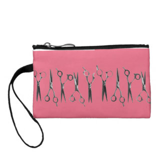 coin purse with scissor images