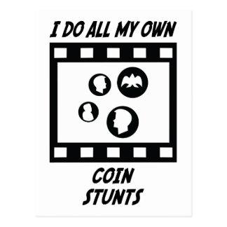 Coin Stunts Postcard