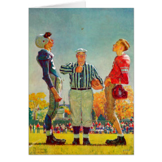 Coin Toss by Norman Rockwell Card