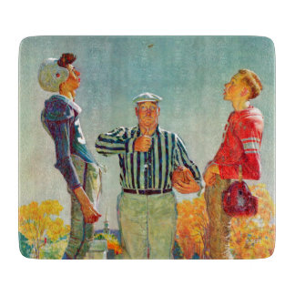 Coin Toss by Norman Rockwell Cutting Board