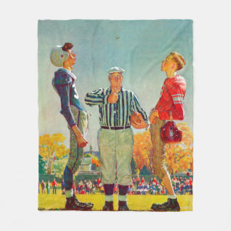 Coin Toss by Norman Rockwell Fleece Blanket