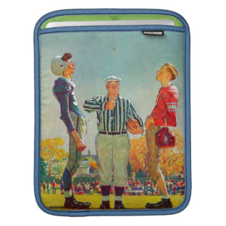 Coin Toss by Norman Rockwell iPad Sleeve
