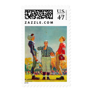Coin Toss by Norman Rockwell Postage