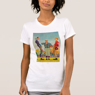 Coin Toss by Norman Rockwell T-Shirt