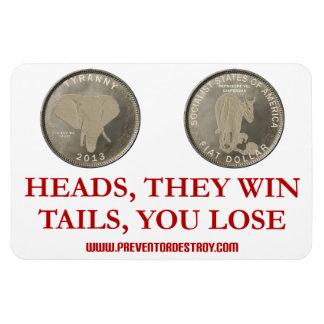 Coin Toss Flexible Magnet