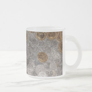 Coin Treasure Frosted Glass Coffee Mug
