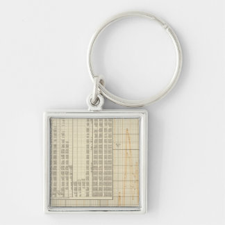 Coinage of US Silver-Colored Square Keychain