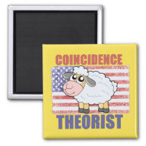 Coincidence Theorist Sheep - Refrigerator Magnet
