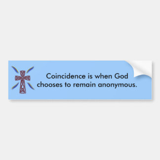 Coincidencia - pegatina para el parachoques pegatina de parachoque
