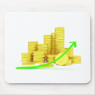 Coins and arrow mouse pad