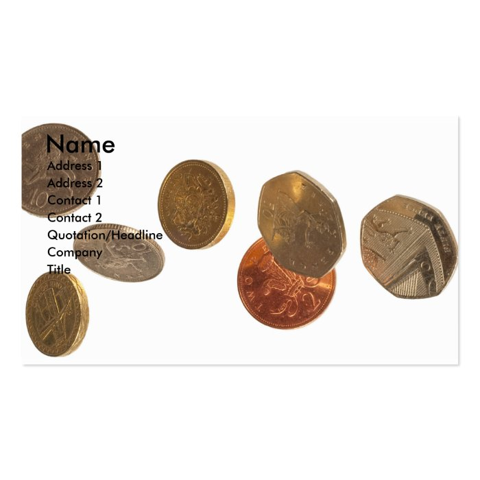 coins business card