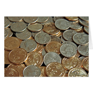 Coins Stationery Note Card