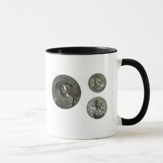 Coins depicting Henry VIII and Anne Boleyn Mug