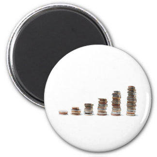 Coins growth 2 inch round magnet