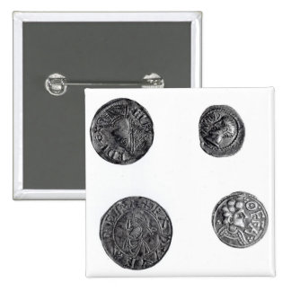 Coins of Cunobelinus or Cymbeline 2 Inch Square Button