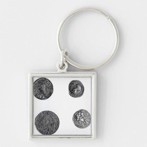 Coins of Cunobelinus or Cymbeline Keychain