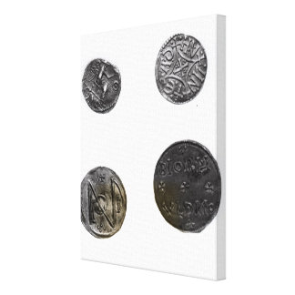 Coins of Cunobelinus or Cymbeline ,King of Mercia Canvas Print