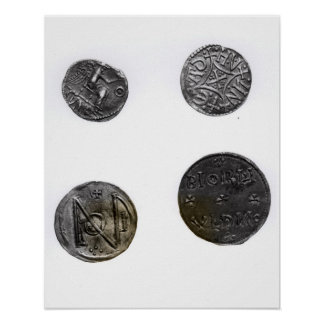 Coins of Cunobelinus or Cymbeline ,King of Mercia Posters