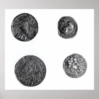 Coins of Cunobelinus or Cymbeline Print