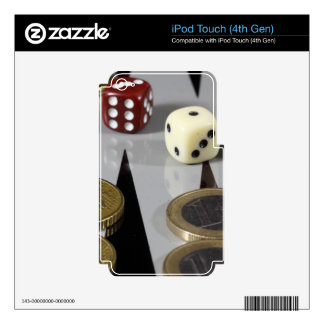 Coins on a backgammon board iPod touch 4G skin