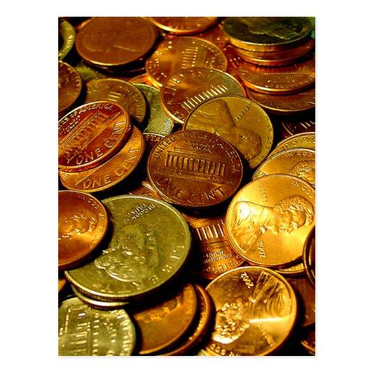 Coins Postcard