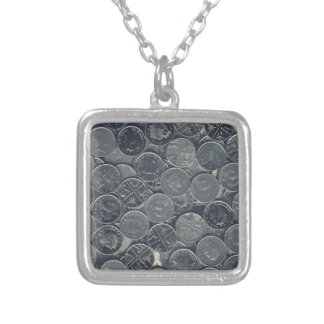 Coins Silver Plated Necklace