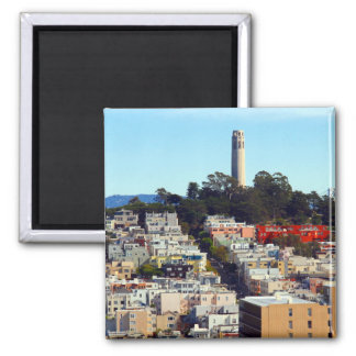 coit tower 2 inch square magnet