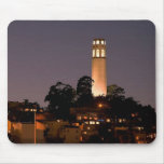 Coit Tower at Night Mouse Pads