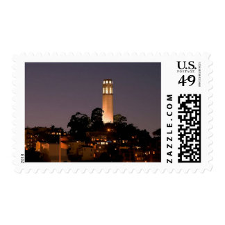 Coit Tower at Night Postage