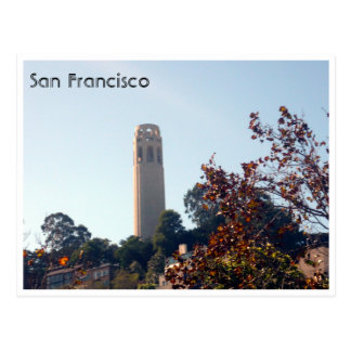 coit tower postcard