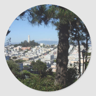 Coit Tower San Francisco Classic Round Sticker